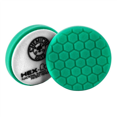 "Chemical Guys 4"" Hex Logic Green Heavy Polishing Pad"