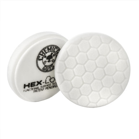 "Chemical Guys 4"" Hex Logic White Light Polishing Pad"