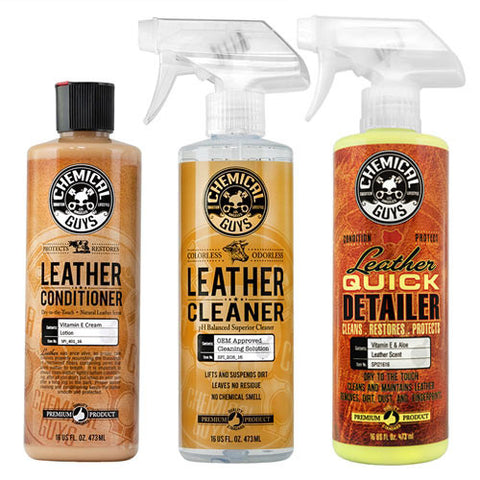 Chemical Guys Leather Cleaner, Conditioner and Detailer Kit