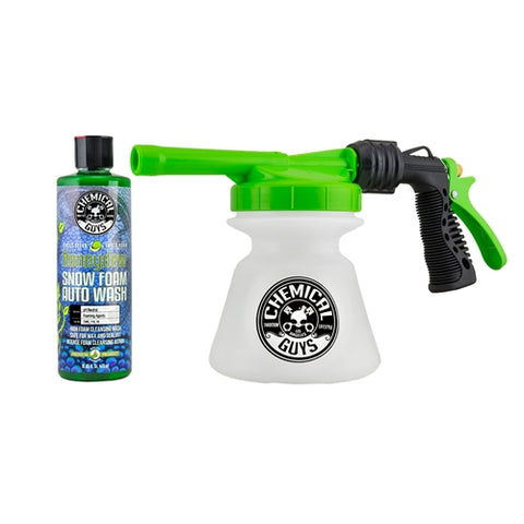 Chemical Guys TORQ Snow Foam Blaster R1 Foam Gun & Honeydew Snow Foam
