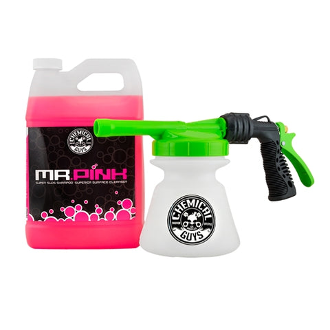 Chemical Guys TORQ Snow Foam Blaster R1 Foam Gun & Mr Pink Super Suds Shampoo - 1 Gallon