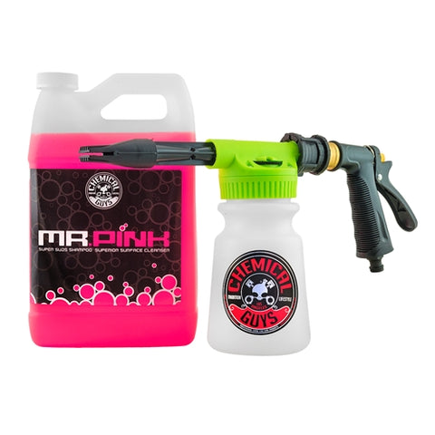 Chemical Guys TORQ Foam Blaster 6 Foam Wash Gun & Mr Pink Super Suds Shampoo - 1 Gallon