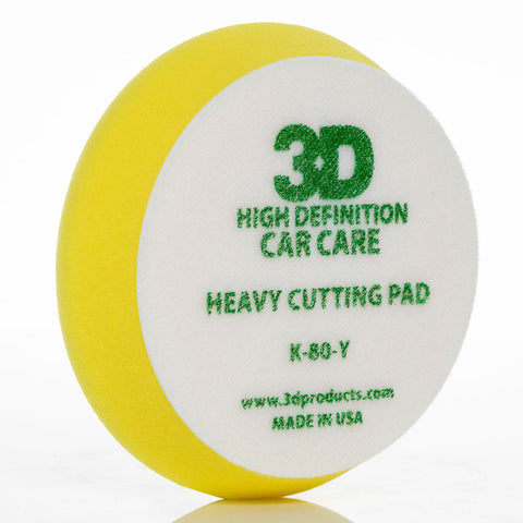 "3D 5.5"" Yellow Heavy Cutting Pad"