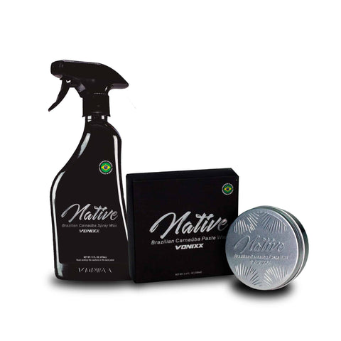 Vonixx Native Brazilian Carnauba Paste & Spray Wax Combo