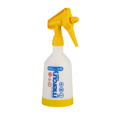 Kwazar Mercury Pro+ 0.5 Litre Double Action Trigger Sprayer - Yellow