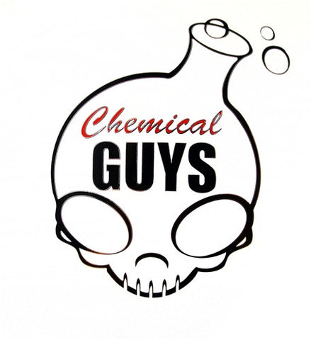 "Chemical Guys 6"" Black Decal Sticker with Chrome Edges"