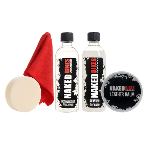 Naked Bikes Leather Cleaner Kit - Fresh Cotton Scent