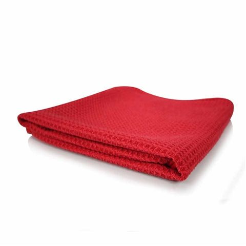 Chemical Guys Glass & Window Waffle Weave Towel - Red