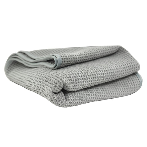 Chemical Guys Waffle Weave Gray Matter Microfiber Drying Towel