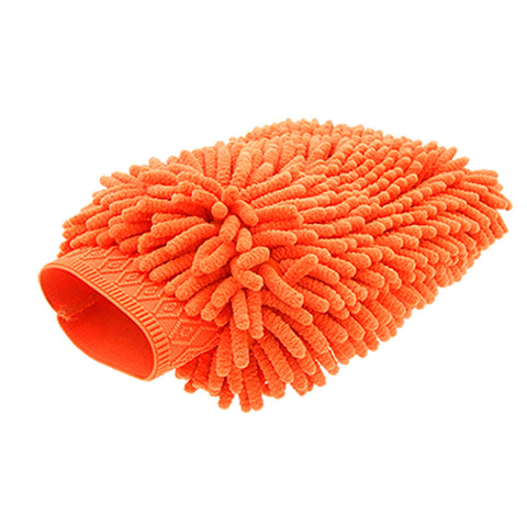 Joe's Chenille Noodle Wash Mitt - Orange