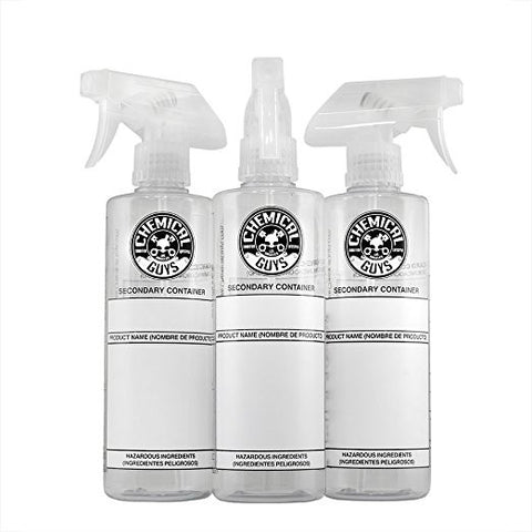 Chemical Guys Secondary Container Bottle with Spray 3 Pack
