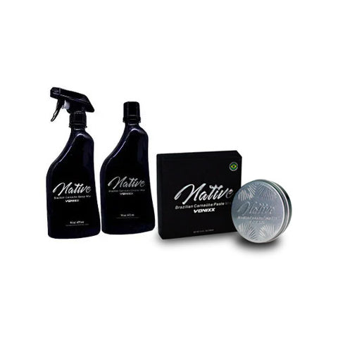 Vonixx Native Brazilian Carnauba Cleaner, Paste & Spray Wax Kit