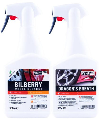 Valet Pro Dragons Breath & Bilberry Wheel Cleaner Combo