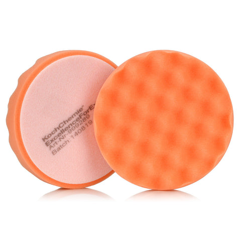 Koch Chemie 130mm Antihologram Orange Waffle Pad