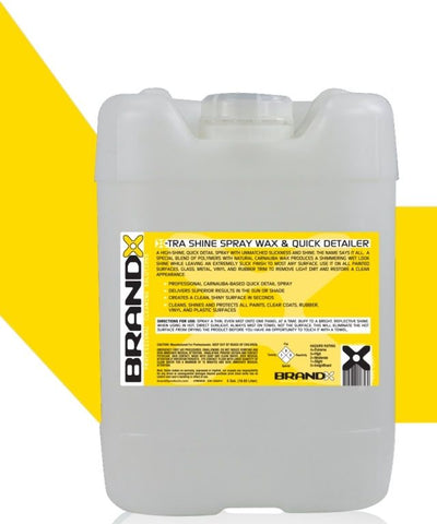 BrandX X-Tra Shine Spray Wax & Quick Detailer - 5 Gallon