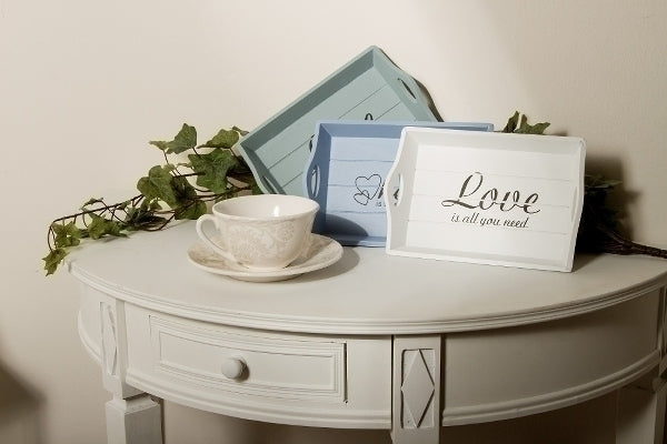 Dreier Holztablettset Love is