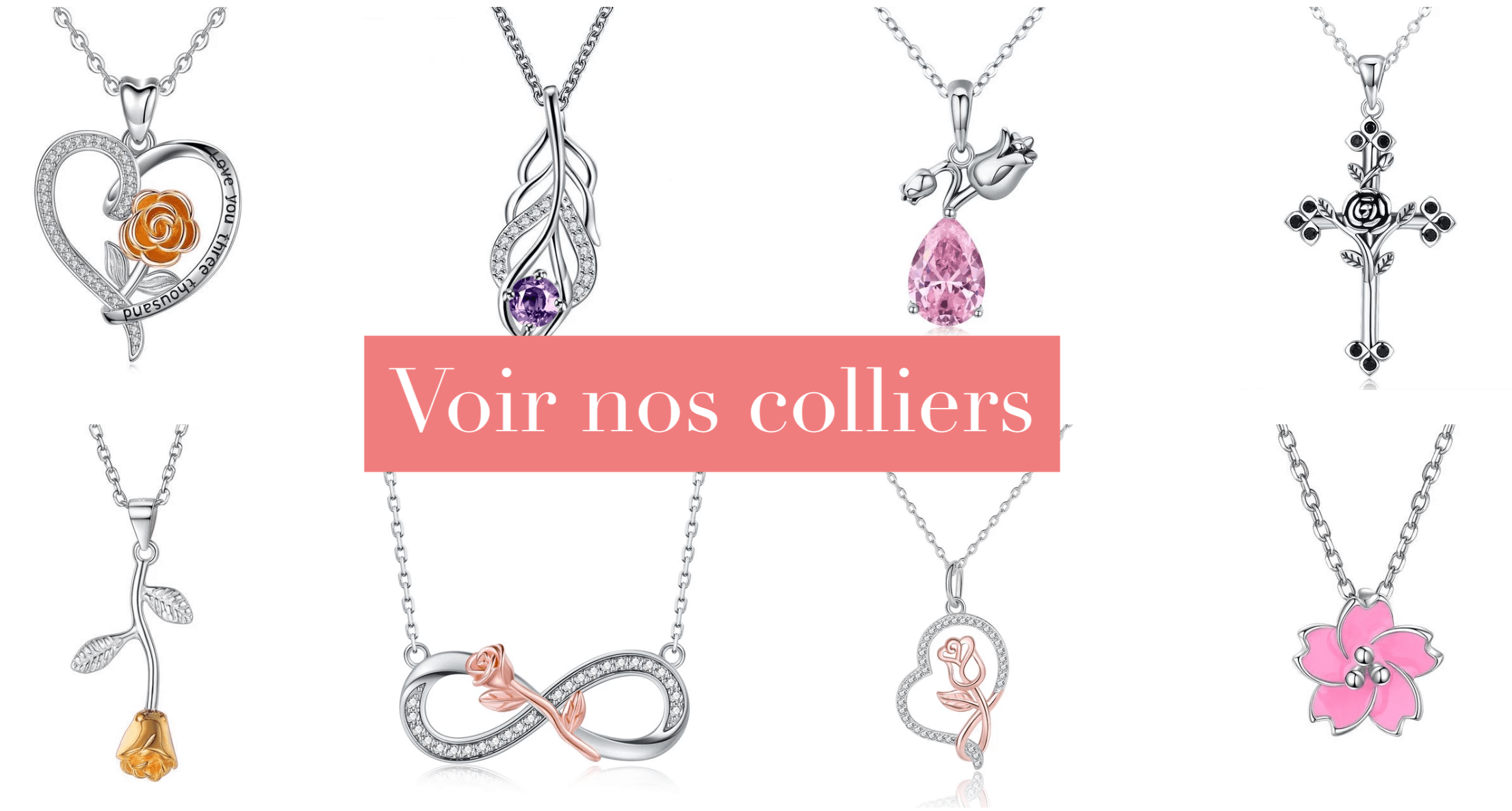collection colliers rose éternelle