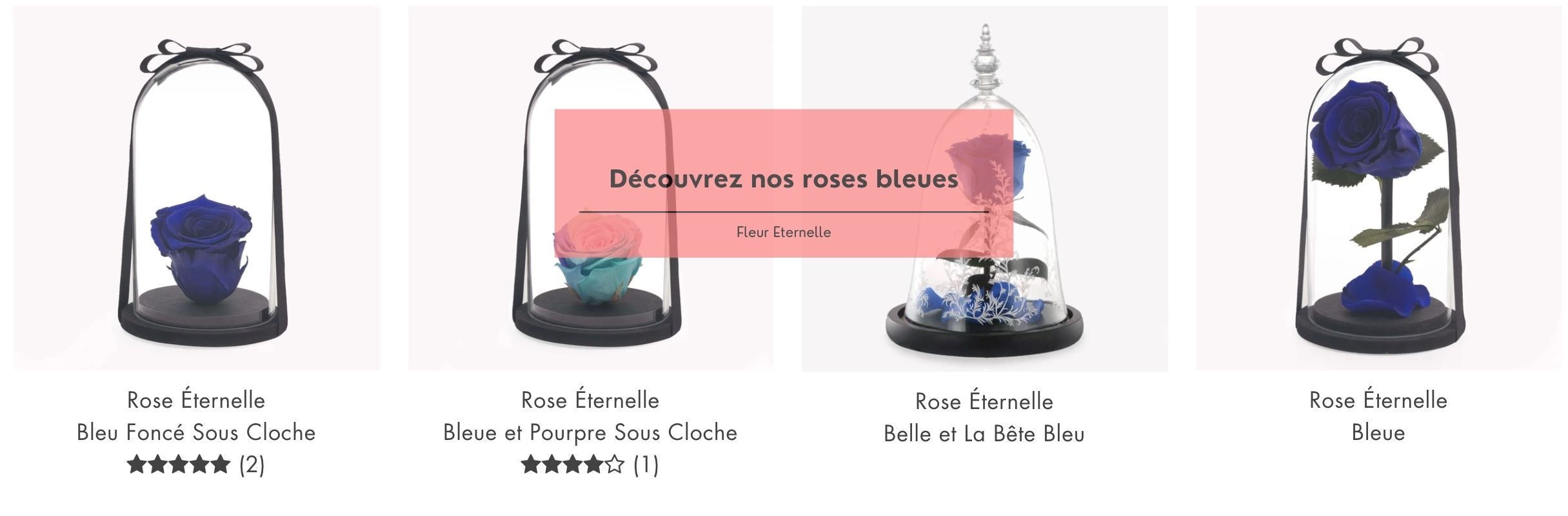 collection rose bleu