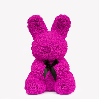 Lapin en rose fuschia