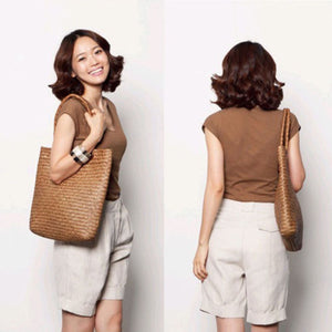 Summer Straw Large Tote Bag