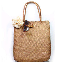 Load image into Gallery viewer, Summer Straw Large Tote Bag