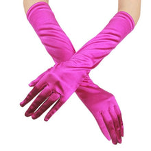 Load image into Gallery viewer, Womens Satin Long Gloves