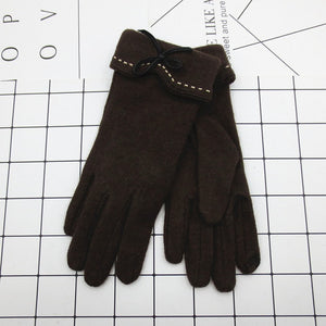 Female Wool Touch Screen Gloves