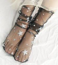Load image into Gallery viewer, Glitter Thin Mesh Tulle Socks