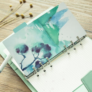 Spiral Loose Leaf Separator Pages Notebook