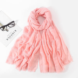 Spring Hollow Linen Cotton Scarf