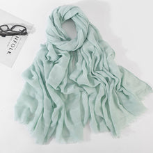 Load image into Gallery viewer, Spring Hollow Linen Cotton Scarf