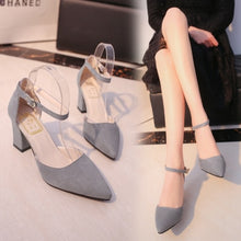 Load image into Gallery viewer, Autumn Flock pointed sandals high heels