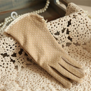 Summer Dot Bow Gloves