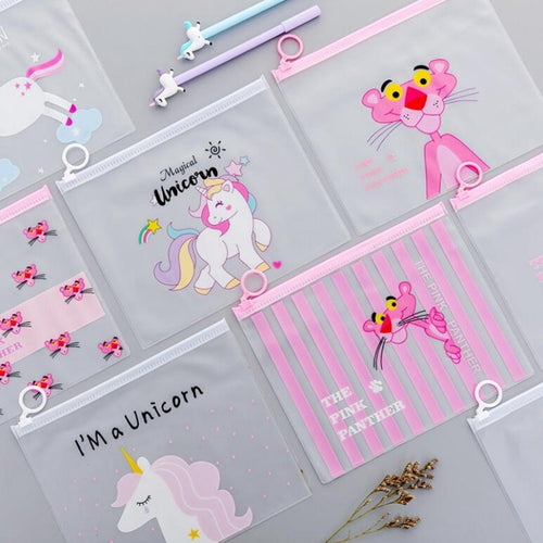 Leopard Unicorn Transparent Pencil Case