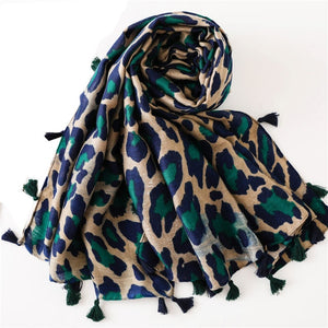 Fashion Women Leopard Print Scarf