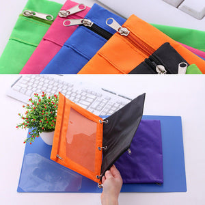 Zippered Binder Pencil Bag