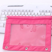 Load image into Gallery viewer, Zippered Binder Pencil Bag