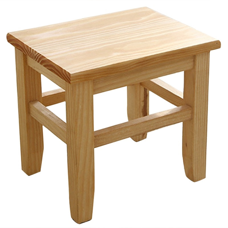 Multi-Function Solid Wood Shoe Bench Stool