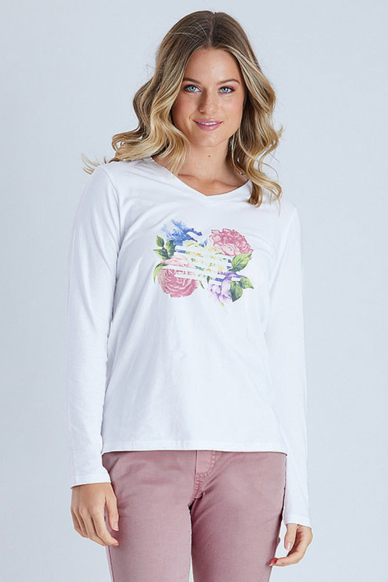 Threadz Print Long Sleeve Tee