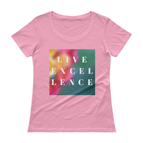 Live Excellence Ladies' Scoopneck T-Shirt
