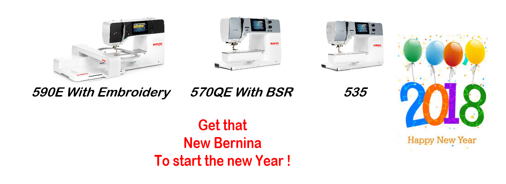 Start new year with new Bernina sewing machine.