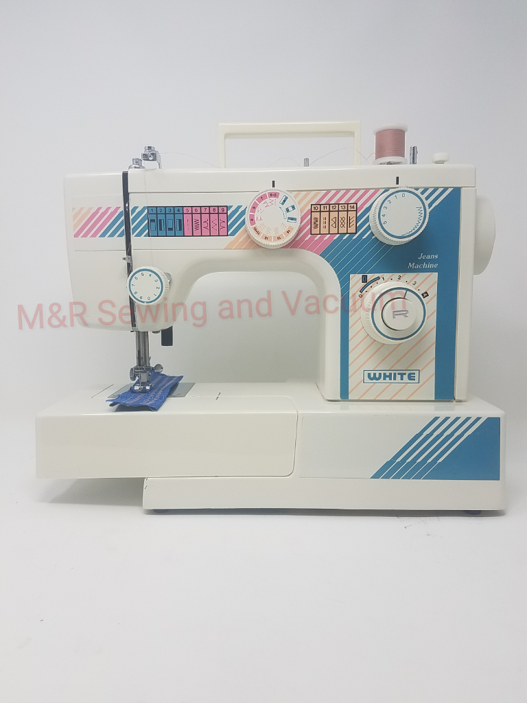 Used White 1760 Jeans Machine