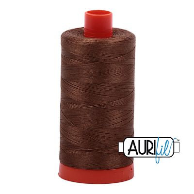 Aurifil 50 weight Cotton Thread, Dk Antique Gold-2372