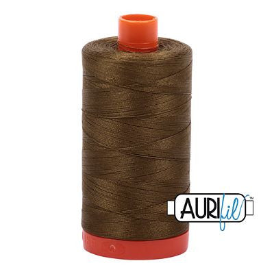 Aurifil 50 weight Cotton Thread, Dk Olive-4173