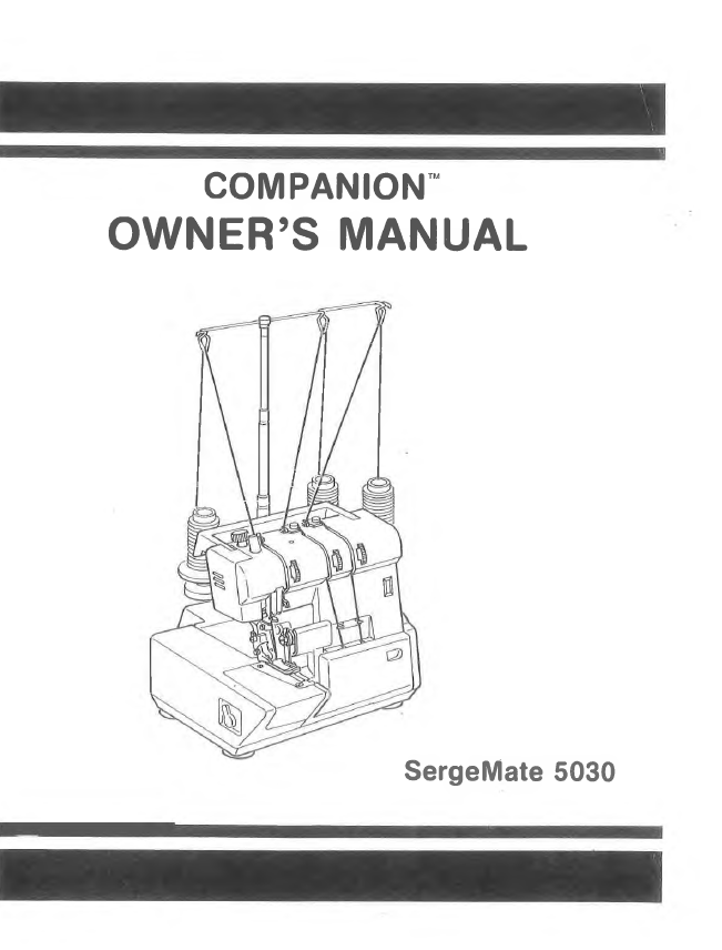 Instruction Manual, Baby Lock, BL-5030-5040L
