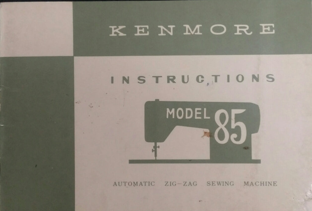 Instruction Manual, Kenmore 85