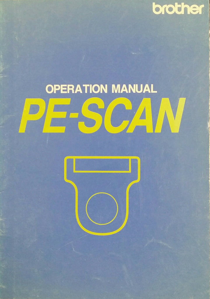 Brother PE-Scan Instruction Book