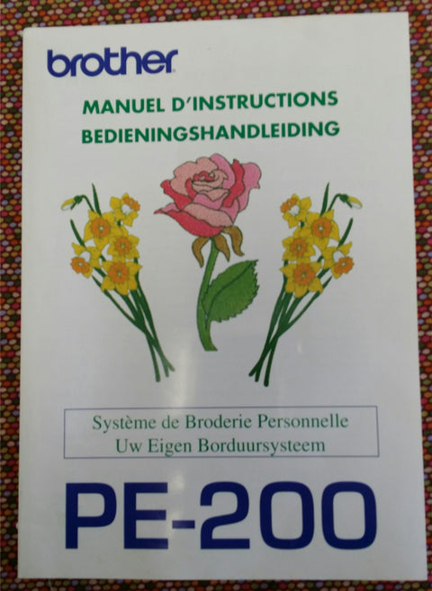 Brother PE-200 Instruciton Book - French/Dutch