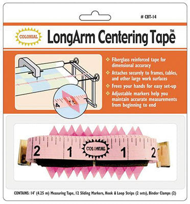 Colonial Longarm Centering Tape - 14ft