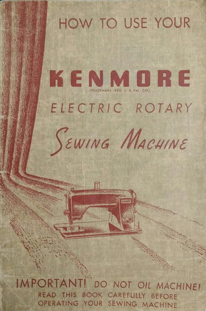 Kenmore Model 120.491 Instruction Book
